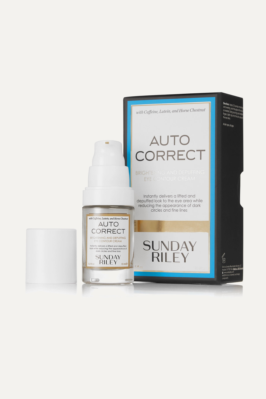 Sunday Riley Autocorrect Brightening and Depuffing Eye Contour Cream, 15ml