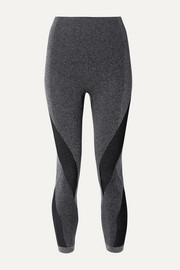 Launch cropped paneled stretch leggings