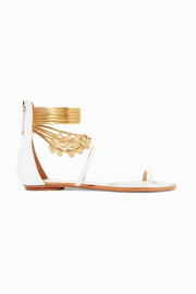 Aquazzura Queen Of The Desert embellished leather sandals
