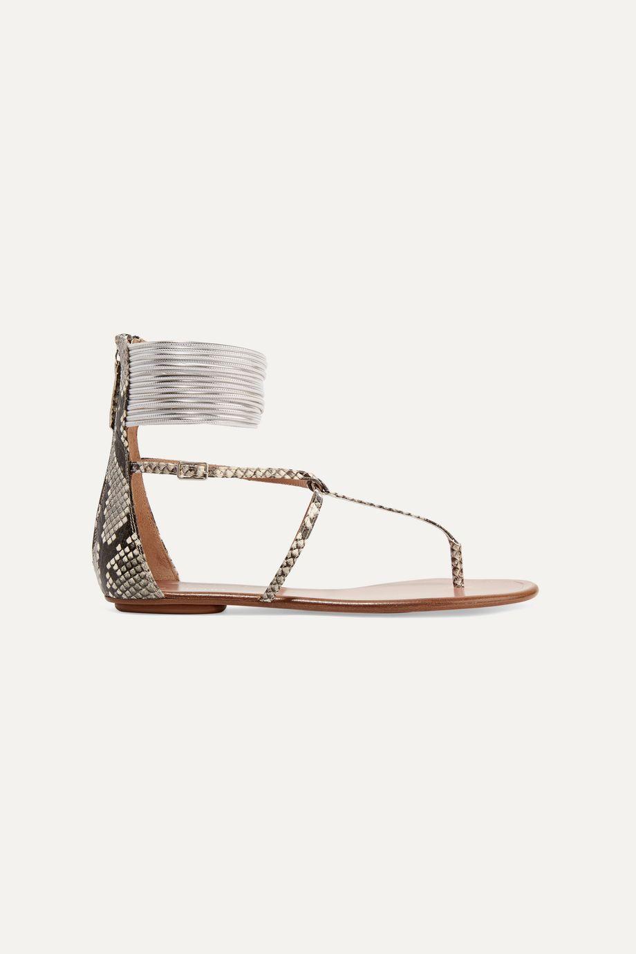 Aquazzura Spin Me Around elaphe sandals