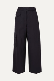 LOW CLASSIC Belted wool-blend wide-leg pants
