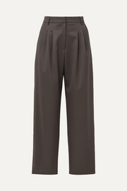 LOW CLASSIC Wool-blend wide-leg pants