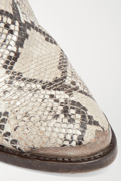 115654982c Golden Goose   Young distressed snake-effect leather ankle boots ...