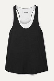 Duet layered stretch-modal jersey tank