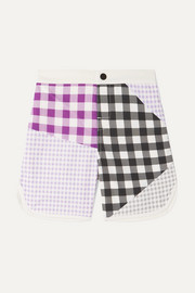 Bumby Hampton patchwork gingham swim shorts
