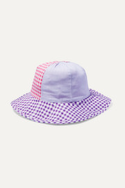 Bumby gingham cotton-canvas hat