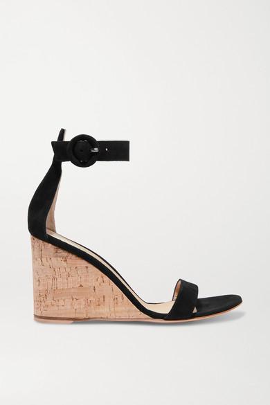 Portofino 85 suede wedge sandals