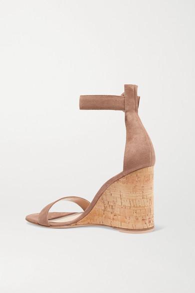 Gianvito Rossi Sandals Portofino 85 suede wedge sandals