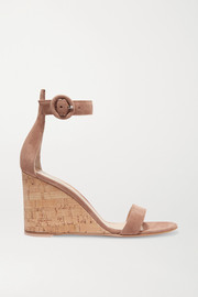 Portofino 85 suede wedge sandals