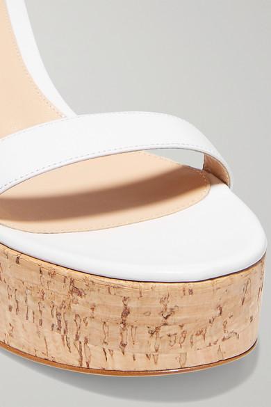 Gianvito Rossi Sandals Portofino 45 leather wedge sandals