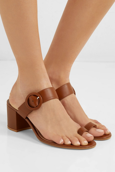 65 buckled leather sandals