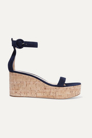 Portofino 45 suede wedge sandals
