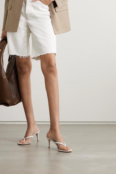 Gianvito Rossi – Calypso 70 Leather Sandals -White