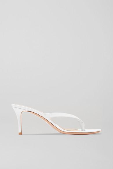 Gianvito Rossi - Calypso 70 Leather Sandals - White