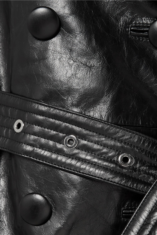 Burberry Doppelreihiger Trenchcoat aus Leder
