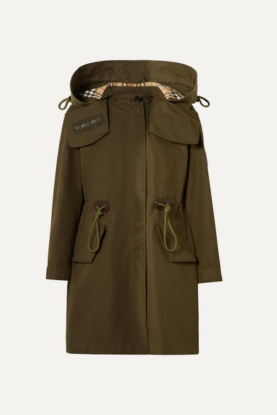 Oversized Hooded Cotton Gabardine Parka by Burberry