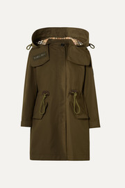 Burberry Oversized hooded cotton-gabardine parka