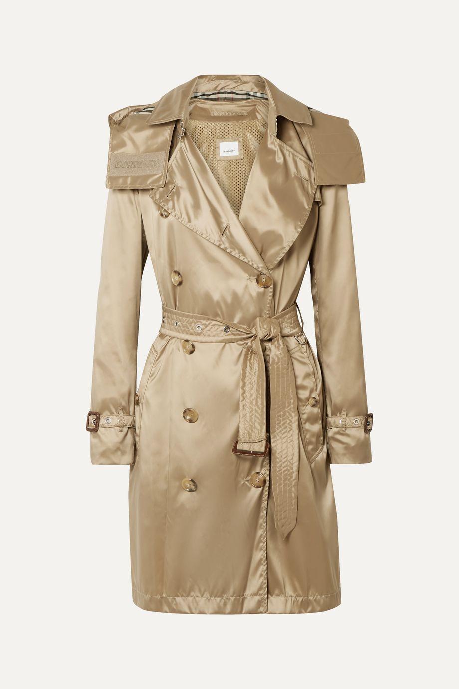 Burberry The Kensington hooded ECONYL trench coat