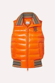 Burberry Appliquéd quilted shell down vest