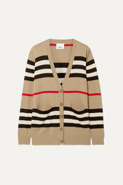 Burberry Oversized striped merino wool cardigan