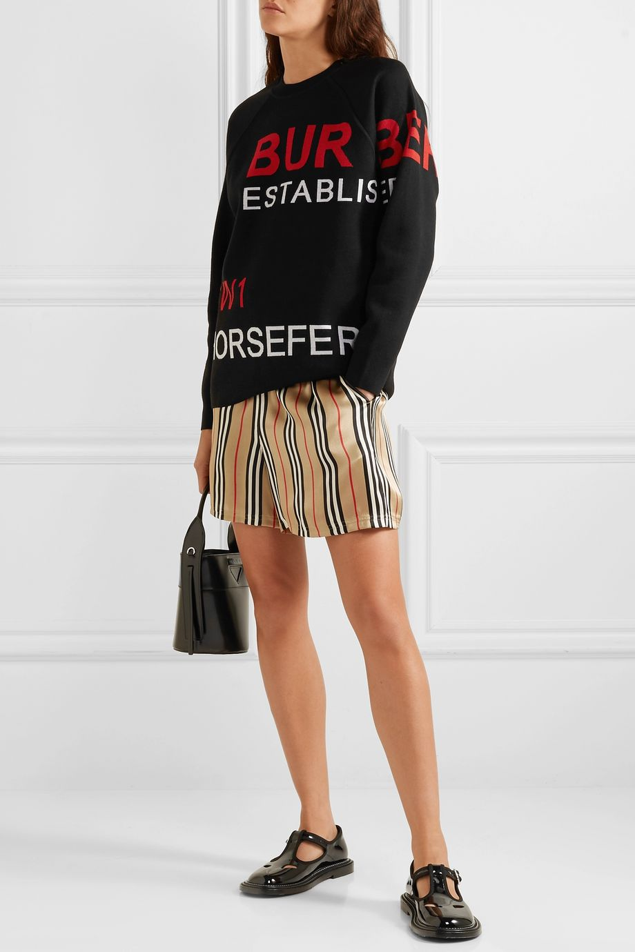 Burberry Intarsia merino wool-blend sweater