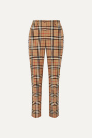 Burberry Checked cotton-twill straight-leg pants