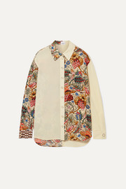 Burberry Printed silk-chiffon shirt