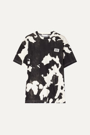 Burberry Appliquéd printed cotton-jersey T-shirt