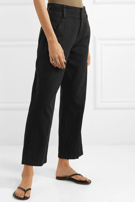 The Relaxed Army cotton and linen-blend wide-leg pants
