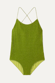 Lumière stretch-Lurex swimsuit