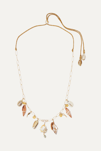CHAN LUU | Chan Luu - Gold-Plated, Shell And Pearl Necklace - One Size | Goxip