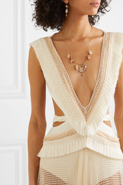 Chan Luu Gold-plated, shell and pearl necklace
