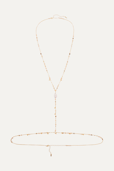 CHAN LUU | Chan Luu - Gold-Tone, Shell And Mother-Of-Pearl Body Chain - One Size | Goxip