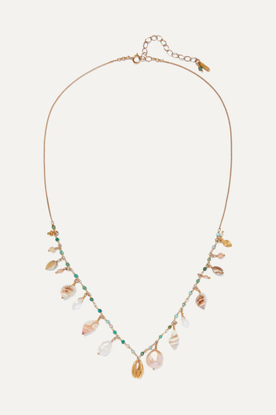 CHAN LUU | Chan Luu - Gold-Plated, Shell And Multi-Stone Necklace - One Size | Goxip