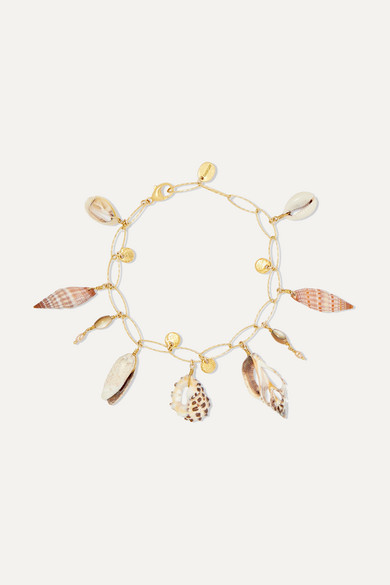 CHAN LUU | Chan Luu - Gold-Plated, Shell And Pearl Bracelet - One Size | Goxip