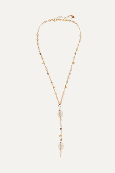 CHAN LUU | Chan Luu - Gold-Plated Multi-Stone Necklace - One Size | Goxip