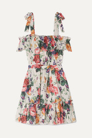 Zimmermann Allia ruffled floral-print linen dress