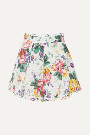 Zimmermann Allia floral-print linen shorts