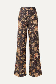 Veneto printed linen flared pants