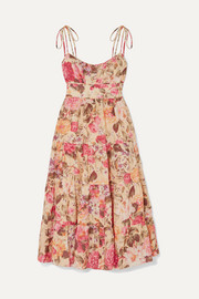 Zimmermann Honour floral-print linen dress