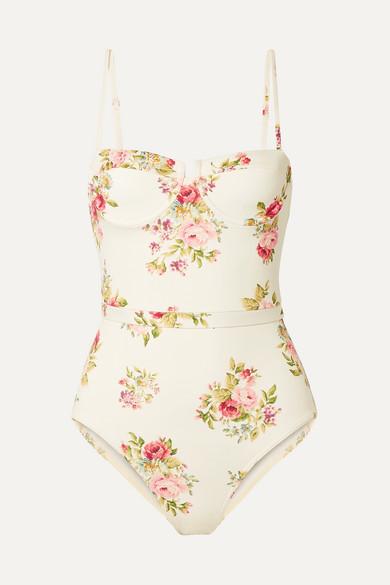 Zimmermann Beachwear Honour floral-print underwired swimsuit