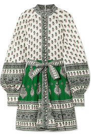 Zimmermann Amari printed linen mini dress