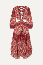de7028600bbb3 Zimmermann Eyes on Summer cutout printed cotton and silk-blend chiffon maxi  dress