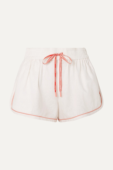 Eyes On Summer Linen And Cotton Blend Shorts by Zimmermann