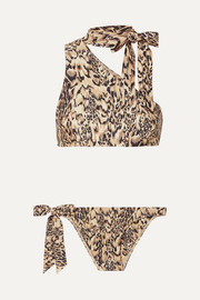 Zimmermann Eyes on Summer one-shoulder leopard-print bikini