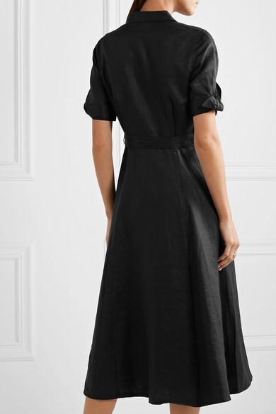 Equipment Dresses Irenne belted linen dress