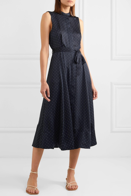 EQUIPMENT Clevete polka-dot crepe midi dress