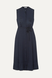 Equipment Clevete polka-dot crepe midi dress