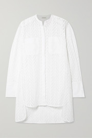 By Malene Birger Moa asymmetric oversized broderie anglaise cotton tunic