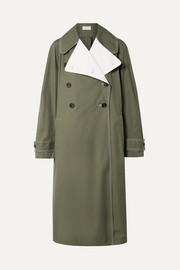 By Malene Birger Hazina double-breasted two-tone cotton-gabardine coat